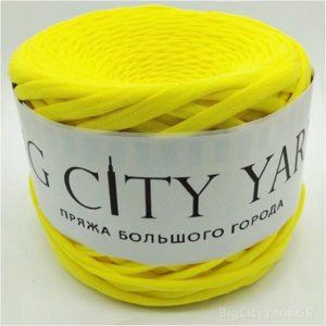 Βαμβακερό νήμα για πλέξιμο, Big City Yarn, Κίτρινο