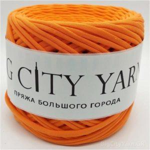 Βαμβακερό νήμα για πλέξιμο, Big City Yarn, Καροτί