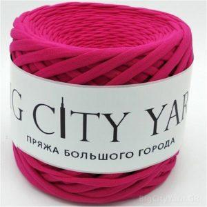 Βαμβακερό νήμα για πλέξιμο, Big City Yarn, Φούξια