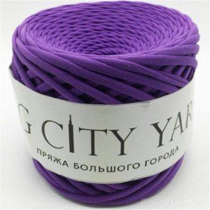 Βαμβακερό νήμα για πλέξιμο, Big City Yarn, Βιολετί