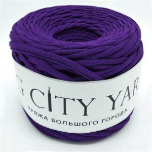 Βαμβακερό νήμα για πλέξιμο, Big City Yarn, Σκούρο μωβ