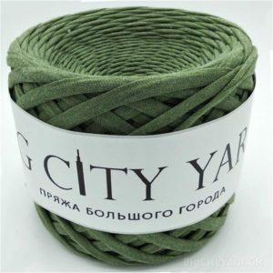 Βαμβακερό νήμα για πλέξιμο, Big City Yarn, Κάκι μελανζέ