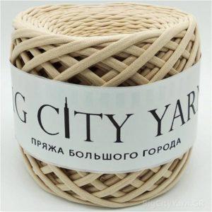 Βαμβακερό νήμα για πλέξιμο, Big City Yarn, Κρέμ