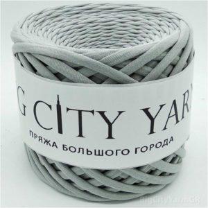 Βαμβακερό νήμα για πλέξιμο, Big City Yarn, Γκρι απαλό