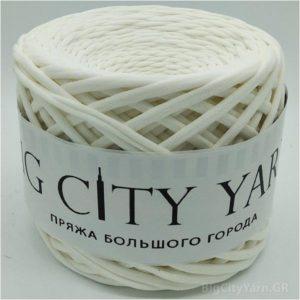 Βαμβακερό νήμα για πλέξιμο, Big City Yarn, Εκρού